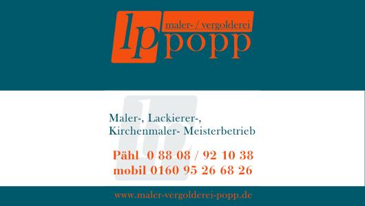 Popp - Maler / Vergolderei