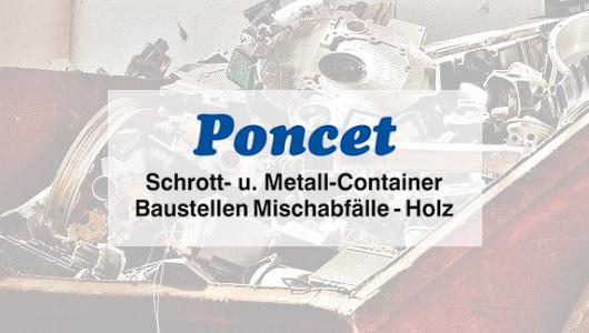 Poncet Schrott -Metall-Container Hofheim